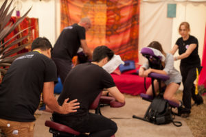 Onsite massage for offices festivals and events