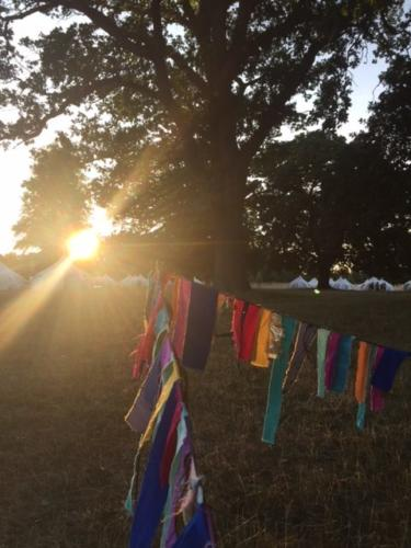 The sun setting at Wilderness