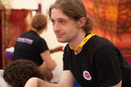 The lovely Matt, loving his work
