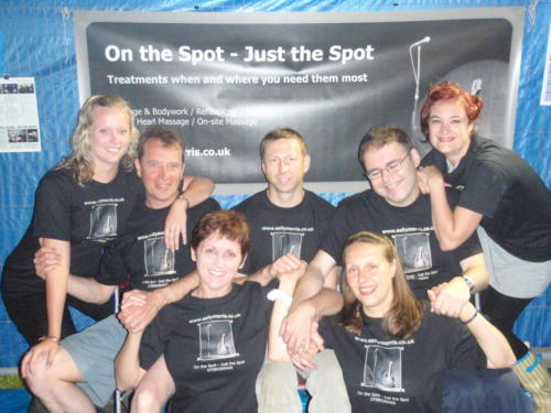 Back in the old days - the team backstage at John Peel